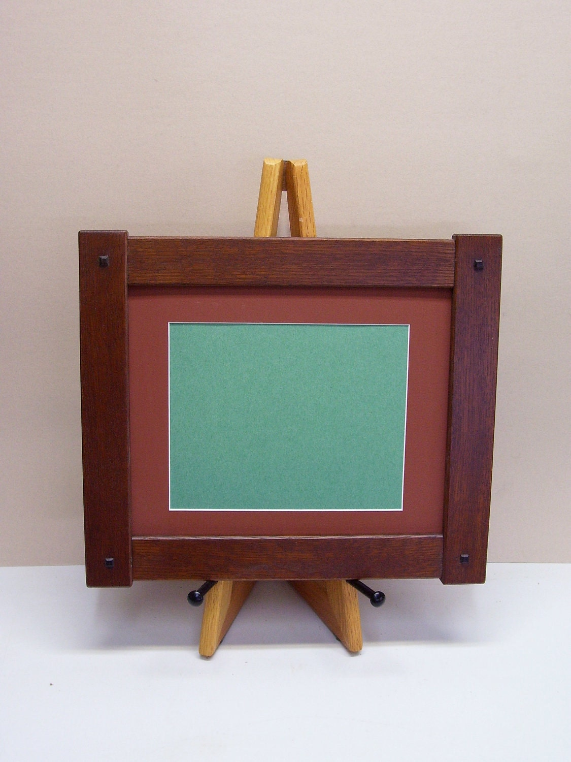 Arts craft mission style oak picture frame by for Craftsman frame