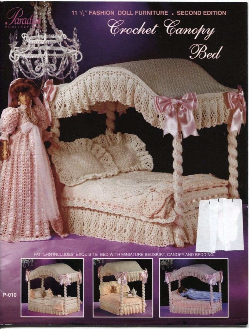 Paradise Crochet Canopy Bed For 11 5 Inch By