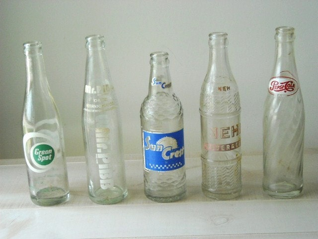 TREASURY ITEM--Vintage Instant Collection Soft Drink  Bottles