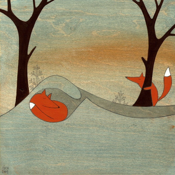 Searching For Mr. Fox - Signed Art Print