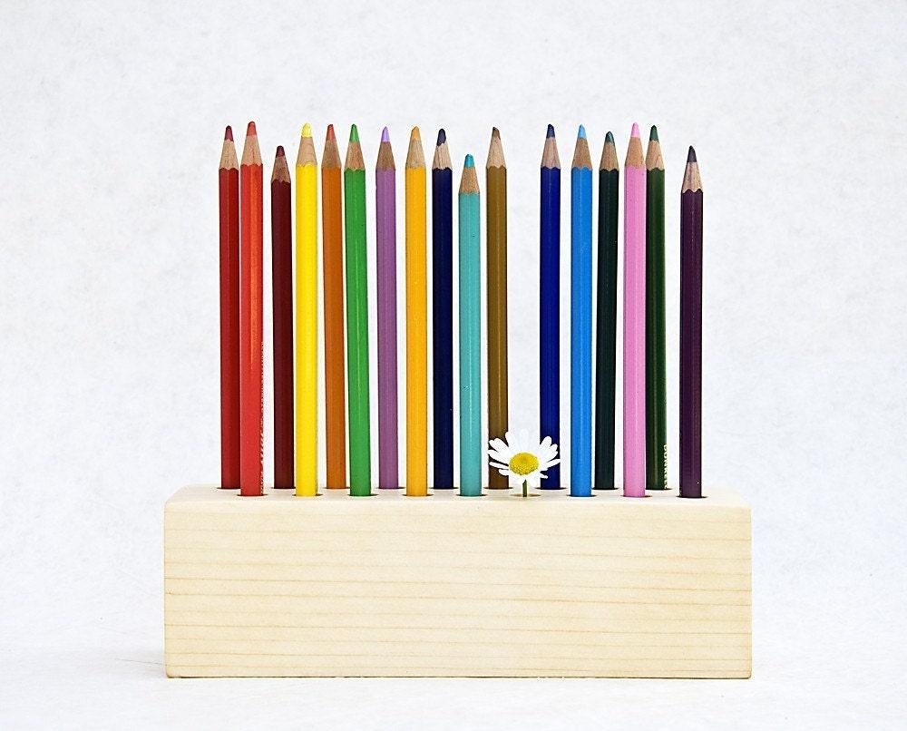 PENCIL HOLDER Pen Holder Desk Organizer Drawing Daisy