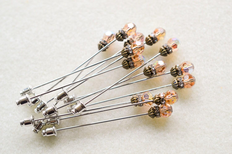 Light Topaz Swarovski Crystal Hijab Pin