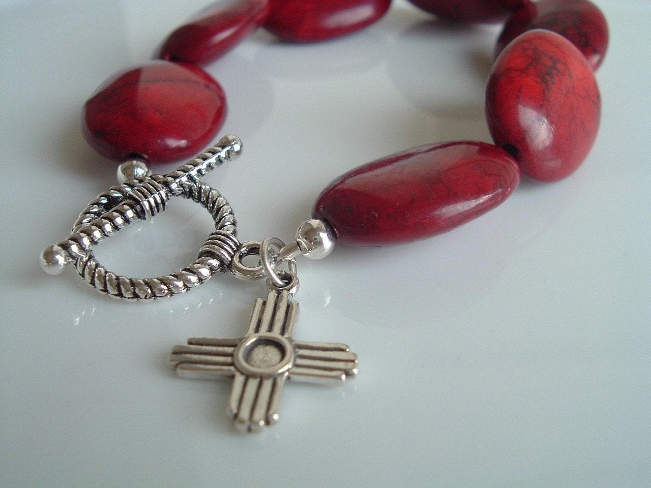 Santa Fe  Ruby Red Bracelet