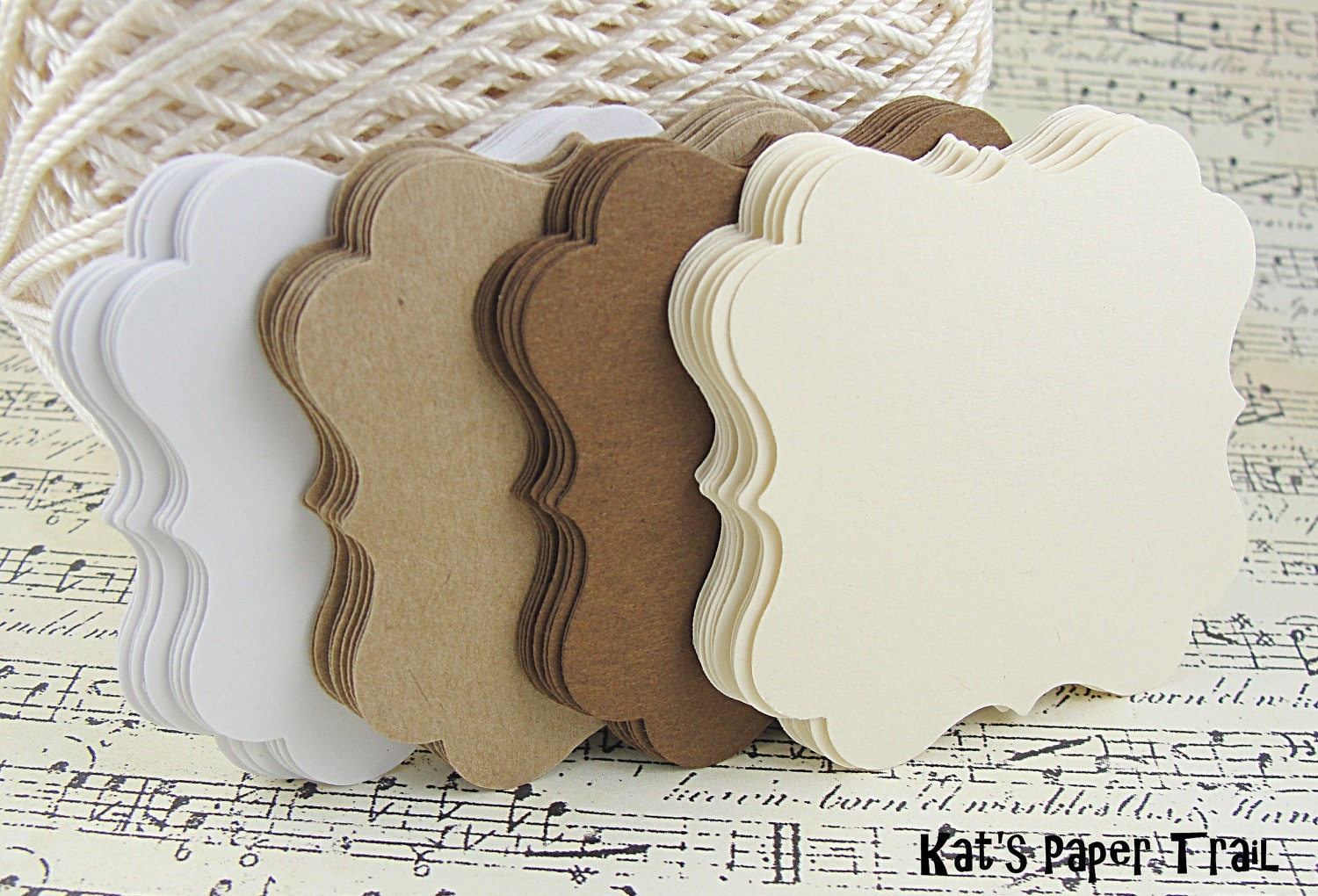 Cardstock Wedding Place Cards