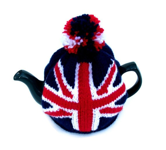 Union Jack tea cosy cozy for a medium pot. Made to by ...