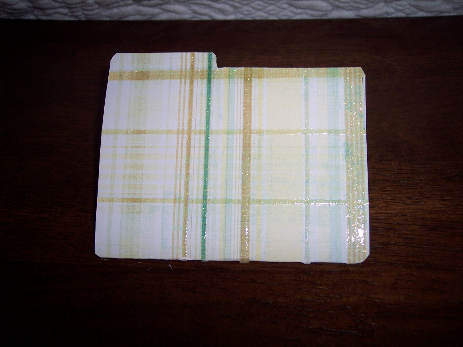 Green/Yellow Plaid Folder