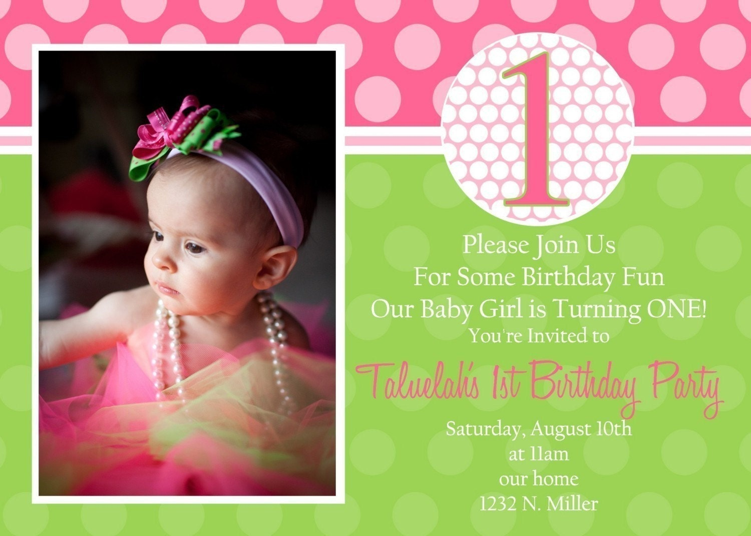 Taluelah- Custom Birthday Invitation for any age