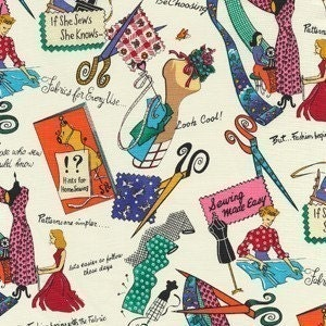 SALE - If She Sews - She Knows Cotton Fabric from Michael Miller