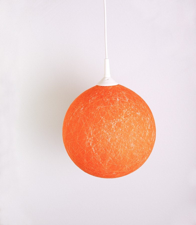 Hanging lamp, Contemporary design interior accent Orange Sunset by FiligreeCreations on Etsy - FiligreeCreations