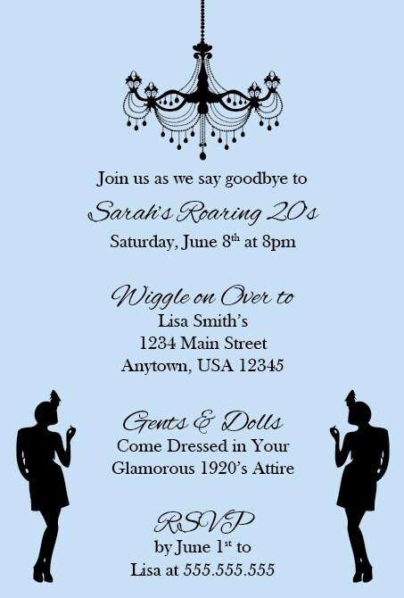 1920S Themed Birthday Invitations as amazing invitations sample