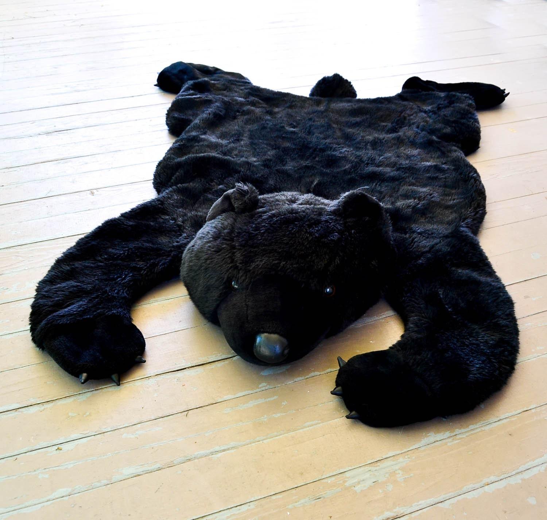 Vintage Teddy Bear Rug Plush Faux Fur Throw By