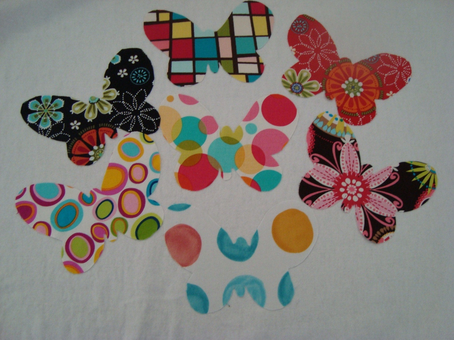 Butterfly Hand Cut NO SEW Iron On Applique Choose your Favorite