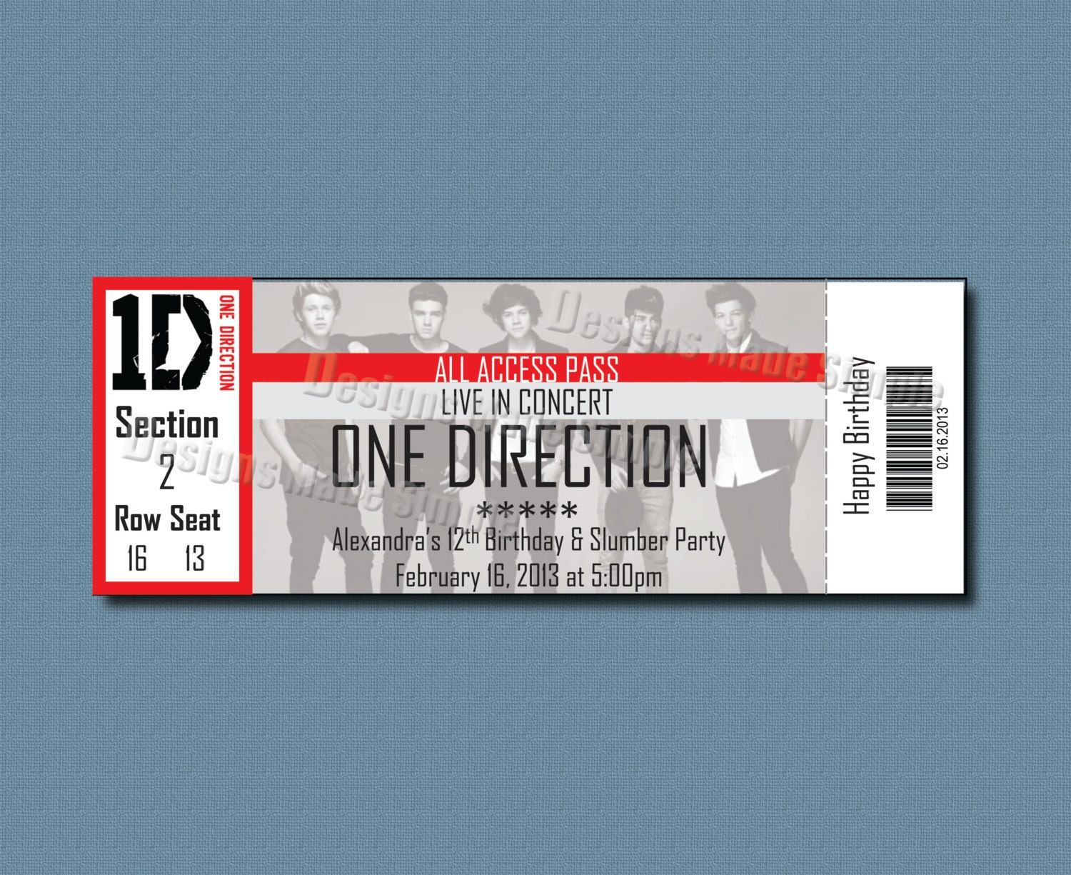 ticket invitation template – Make Your Own Concert Ticket