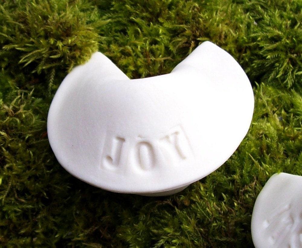 Single Porcelain Fortune Cookie- JOY
