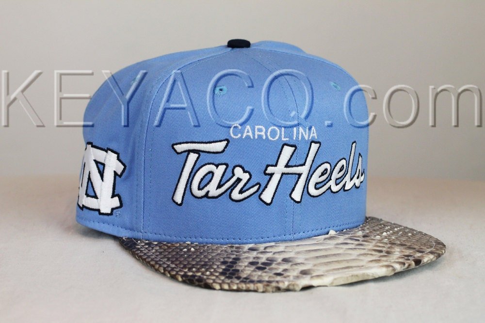 7c5c223f0 No.194 — Carolina Tar Heels with Authentic Python Belly and White ...
