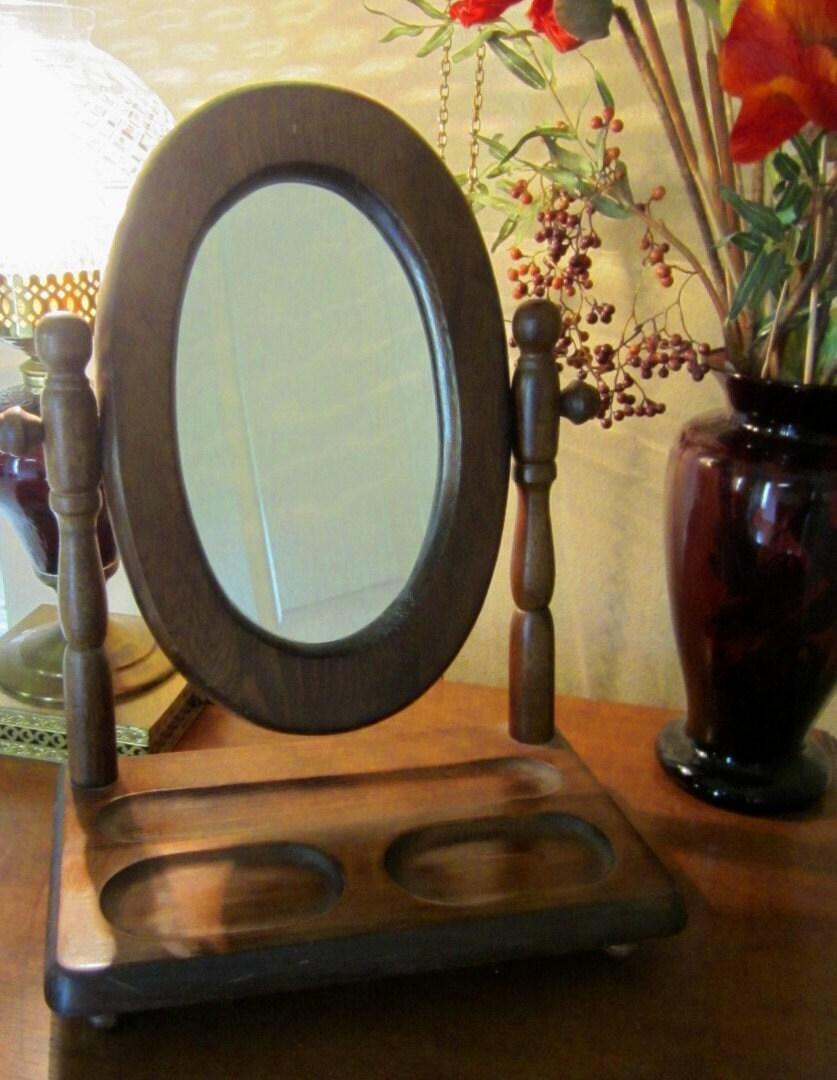 Swivel Mirror Vanity Valet Dresser Top Shaving Stand By