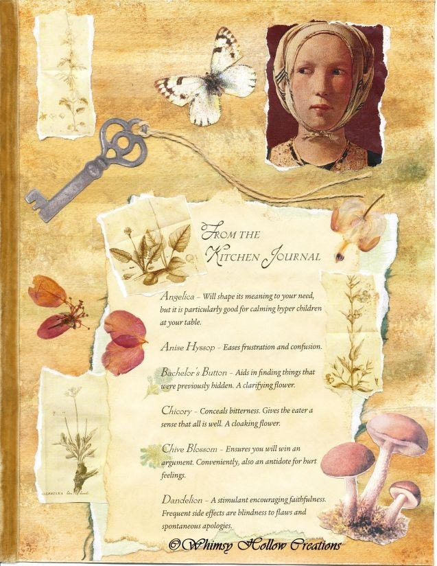 Kitchen Botanist Altered Collage Page Digital and Print