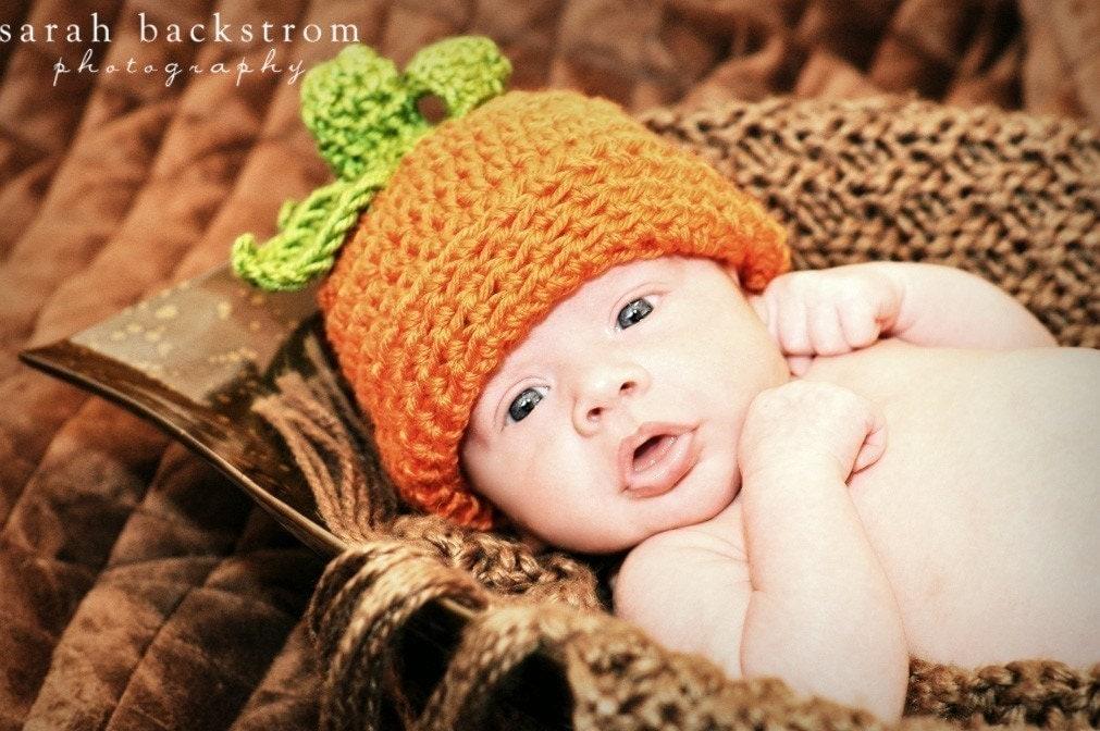 My Little Pumpkin Crocheted Hat-Newborn (0-3 months)