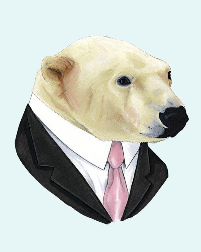 Polar Bear print 8x10