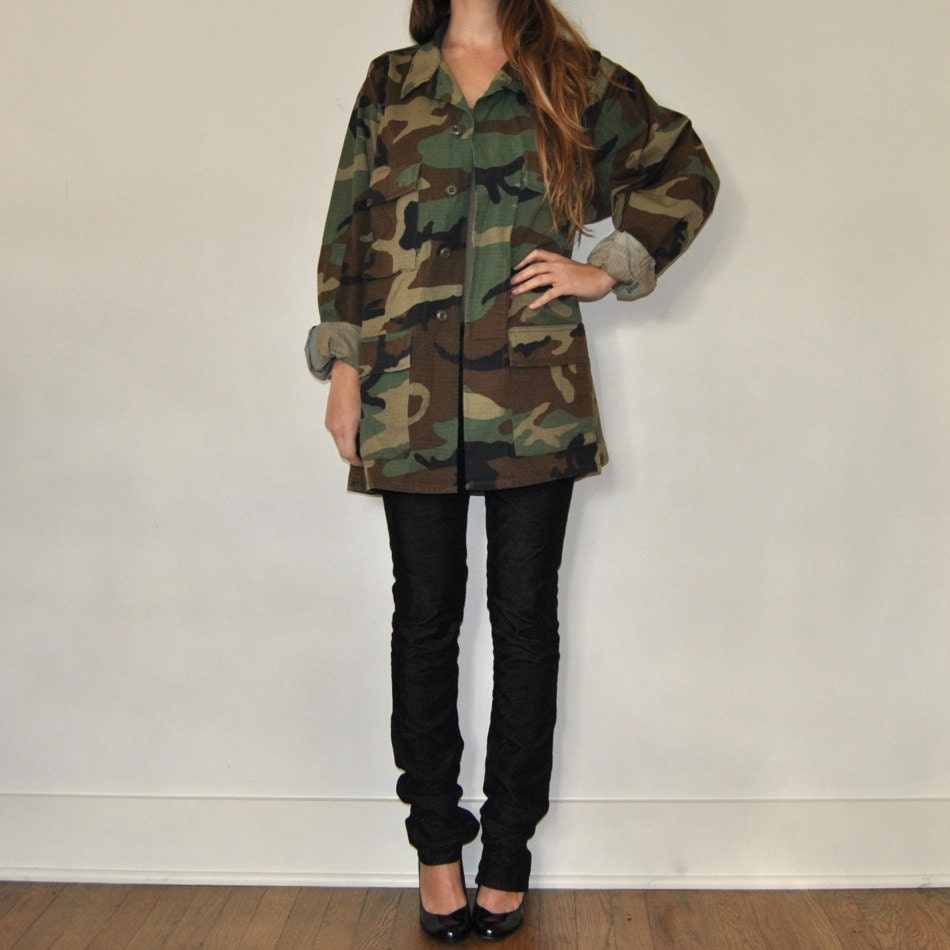 Vintage Army Jacket // Camouflage Military Jacket by JACKNBOOTS