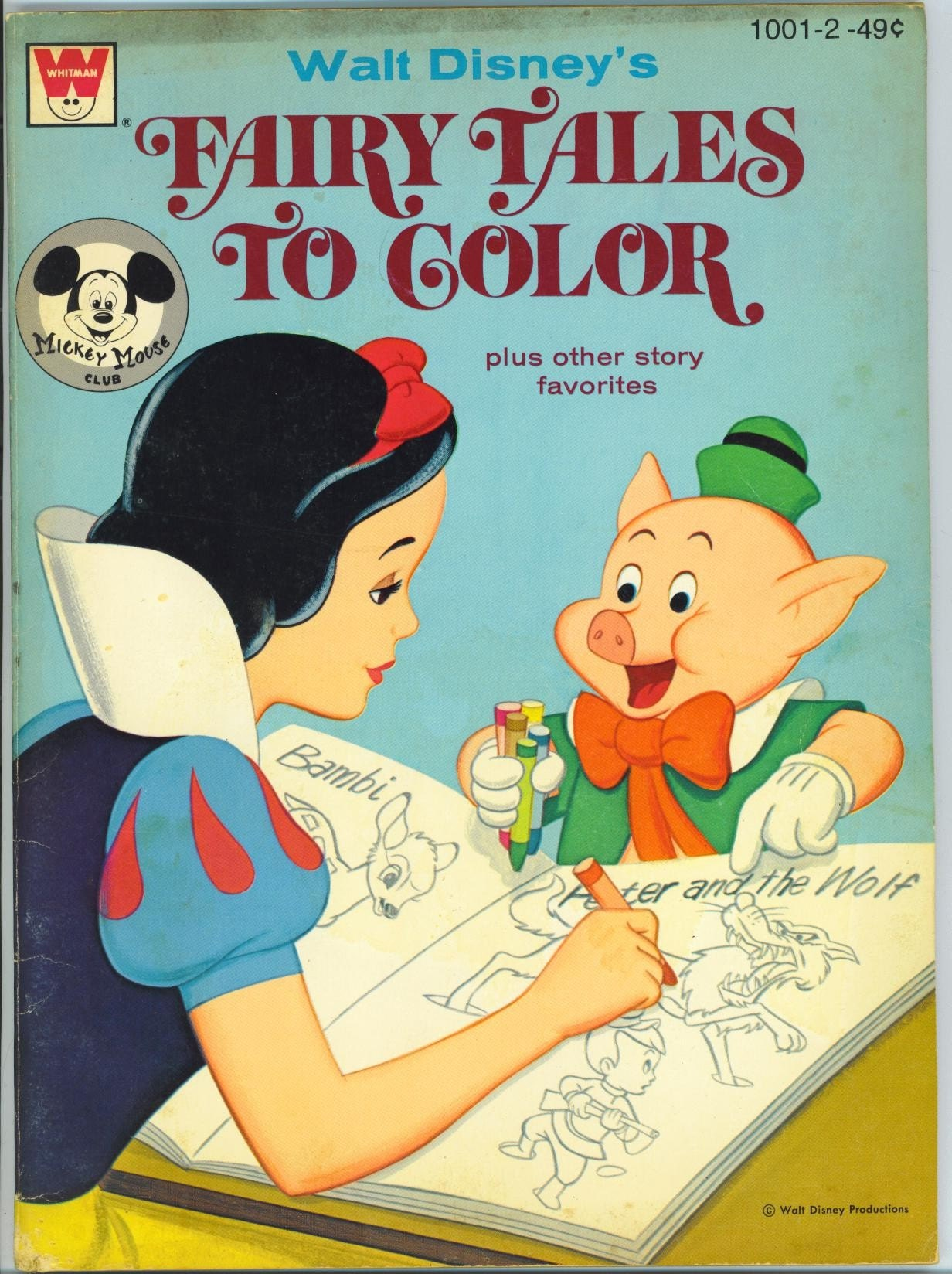 Vintage Disney Coloring Book with