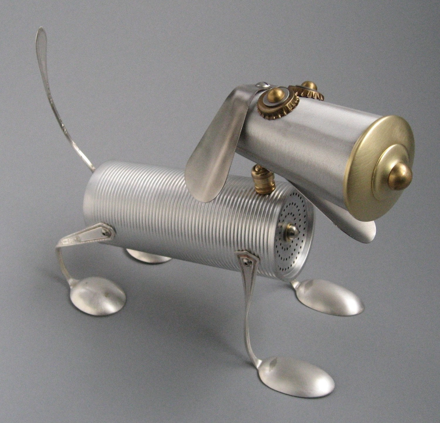 recycling metal: creative ideas, metal creatures from brian marshall
