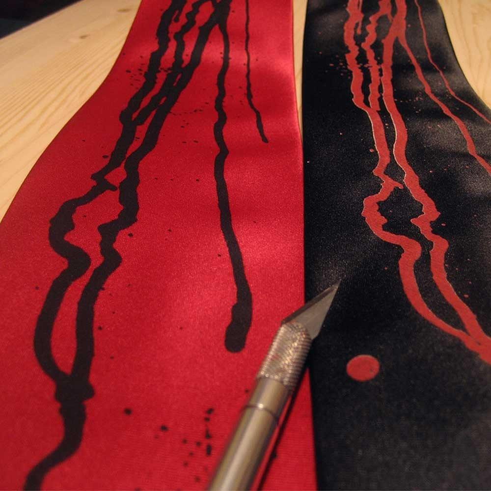 Drips - Microfiber handprinted tie