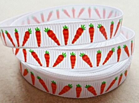 "Cutie Carrot Easter 3/8"" grosgrain ribbon"
