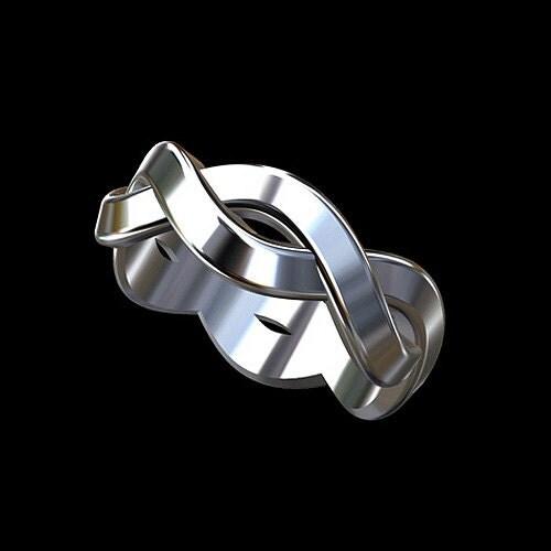 Infinity Platinum: Platinum 950 Infinity Eternity Men's Wedding Band Ring By