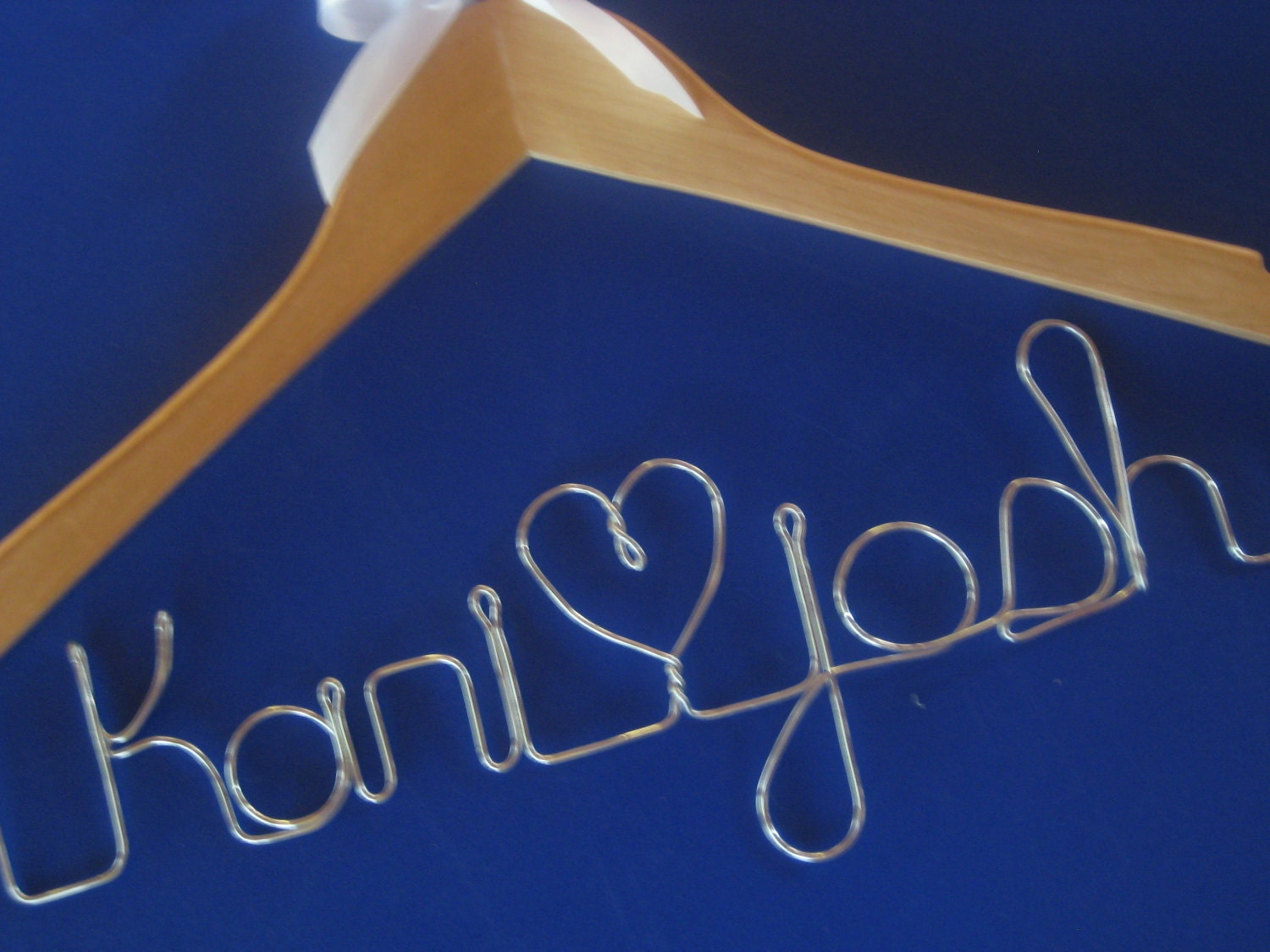 TWO Personalized Bridal Hangers with Bow Discount on Shipping