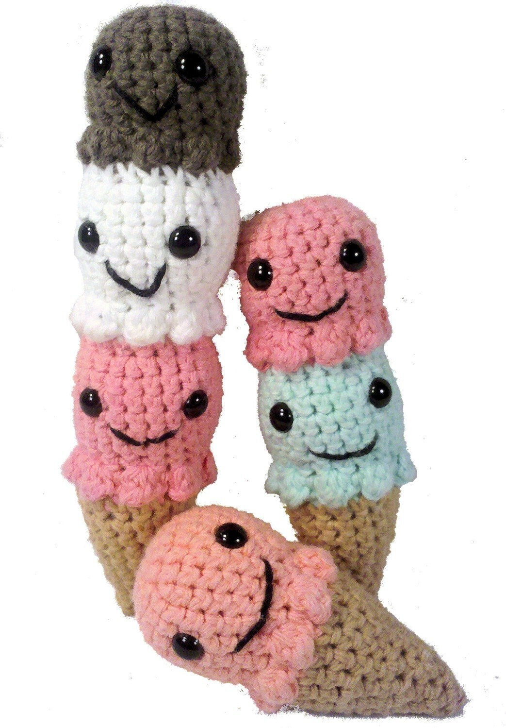Items similar to PATTERN Ice Cream Cones Amigurumi on Etsy