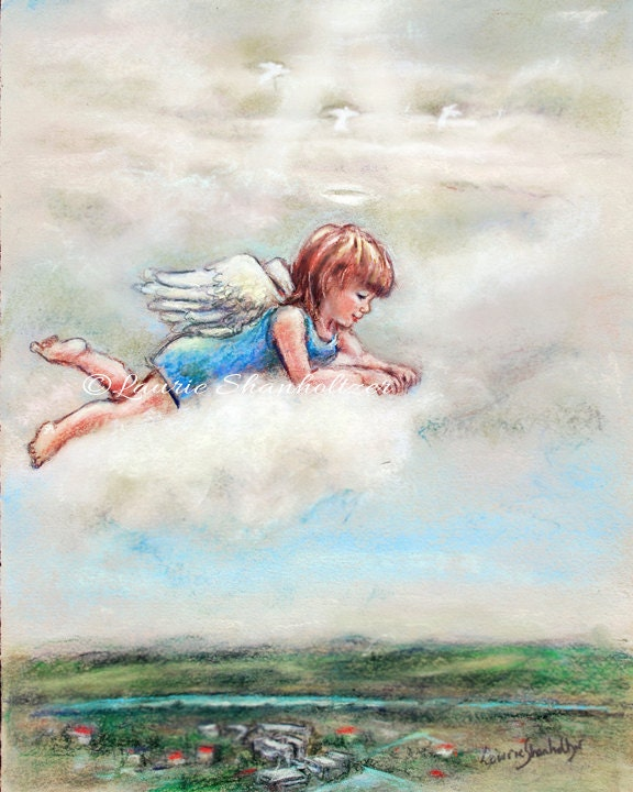 Little Angel Your Guardian Angel Original By Laurieshanholtzer
