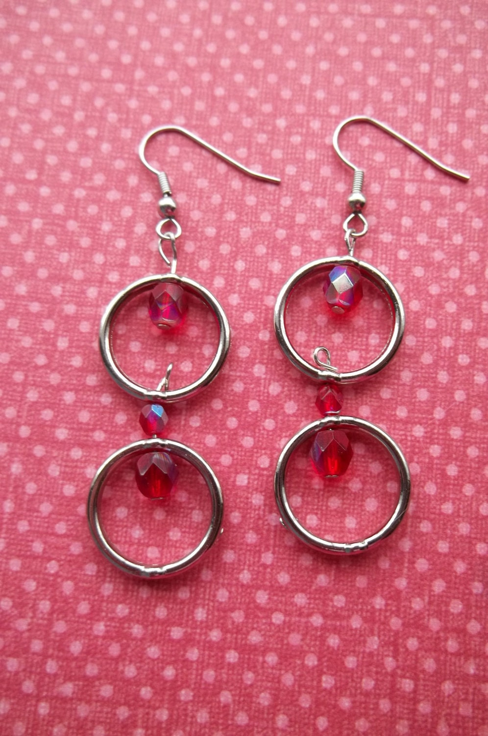 Double Drop Ruby Earrings
