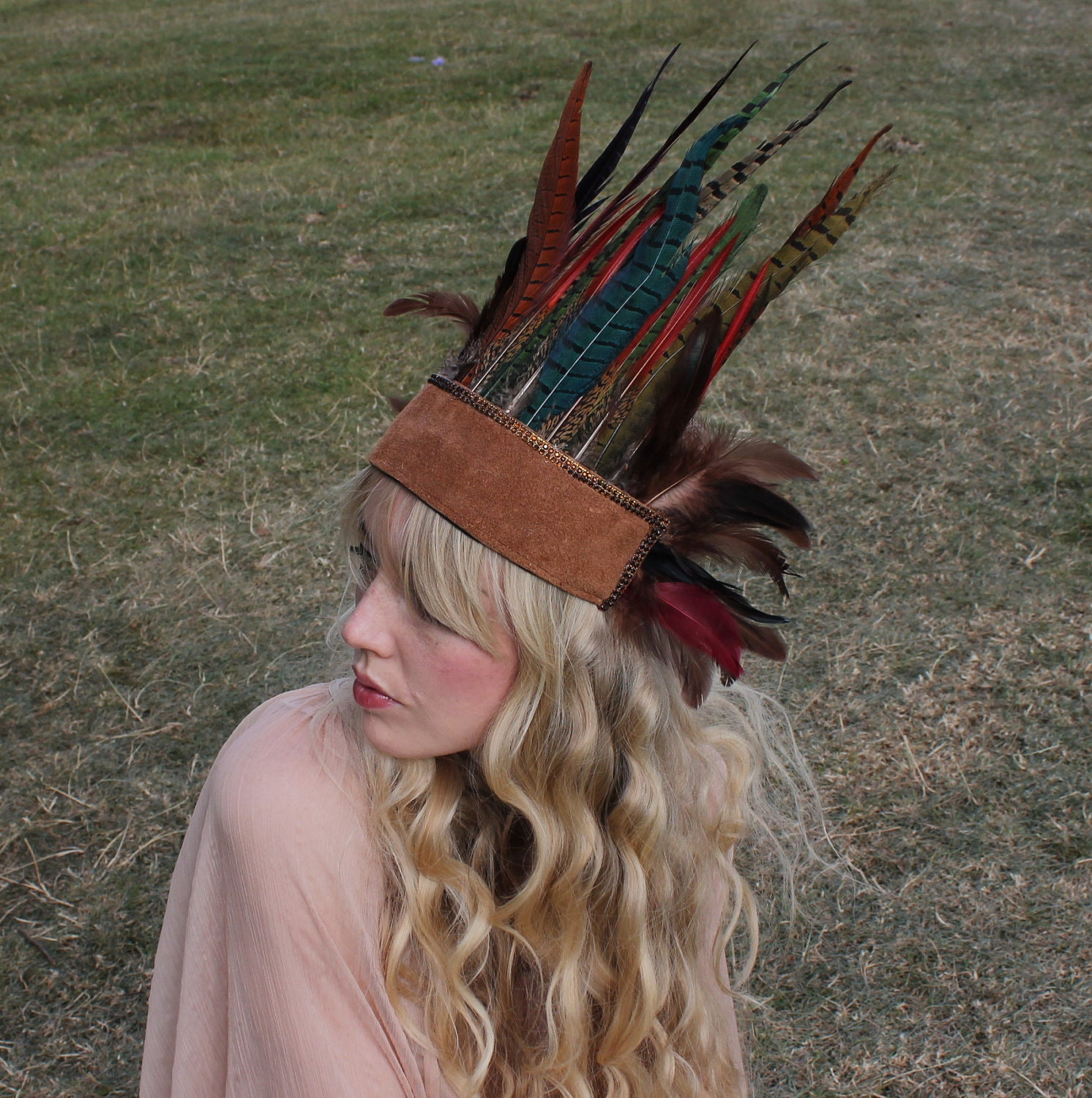 Feather and Leather headpiece