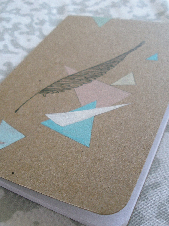 Retro Feather - Mini Sketchbook
