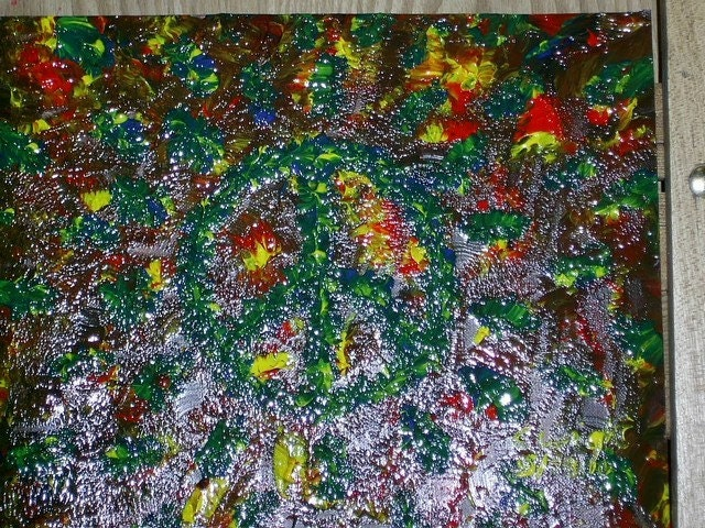 PEACE in Madness 8x10 original acrylic painting on mixed media paper