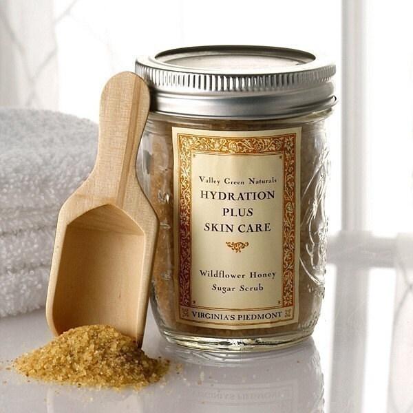 Wildflower Honey Sugar Scrub - Hydration Plus by Valley Green Naturals - Variety of Fragrances