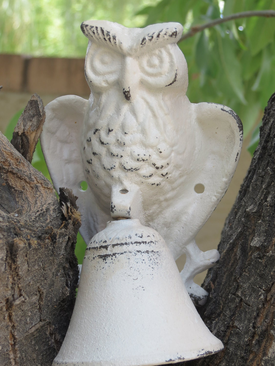 Cast Iron Owl Dinner Bell / Door Knocker / Owl by VeritasInspired