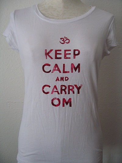 Keep Calm and Carry Om Tee - Medium