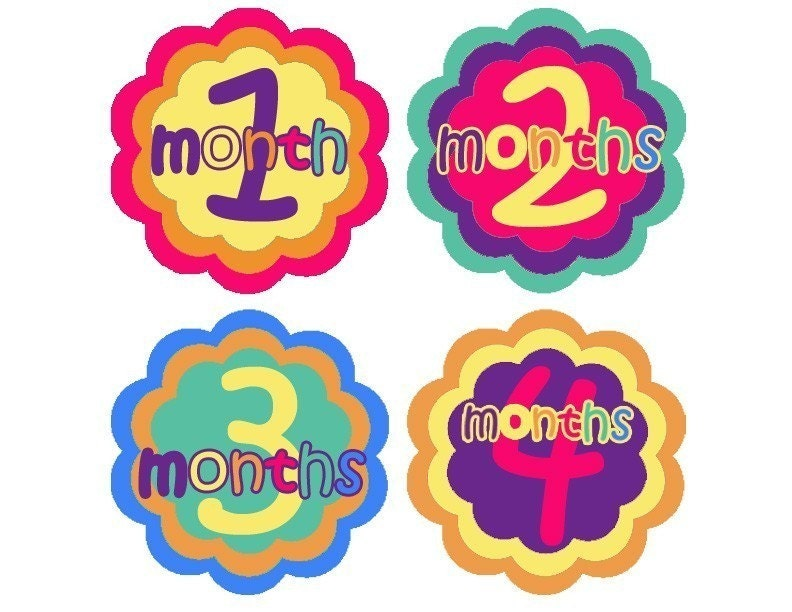 Monthly Onesie Stickers Rainbow Brights-Original