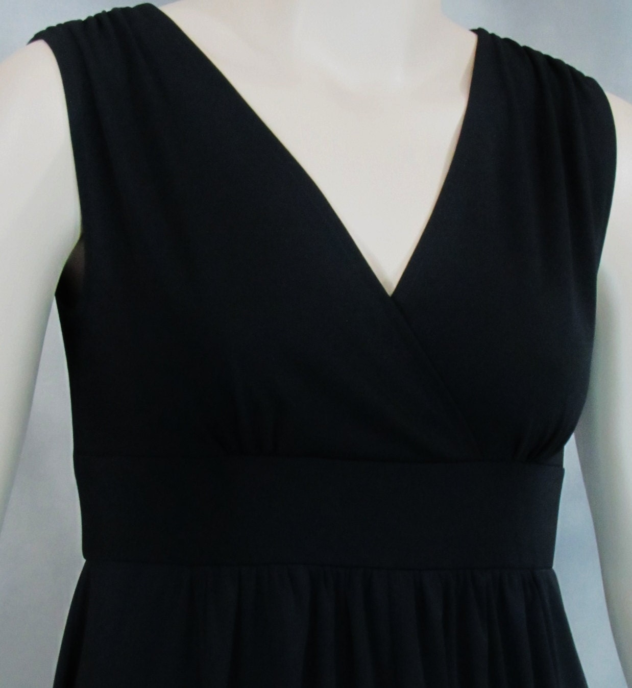 Empire Waist Shirred Cocktail Dress Knee Length Misses Plus Sizes 2-28 FREE Shipping USA Canada