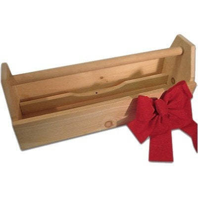 Carpenters Wooden Toolbox Sewing Caddy Wood Tool Box