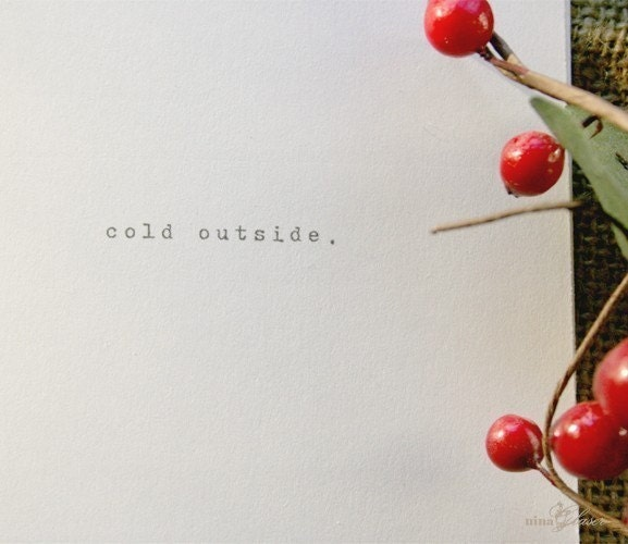 Cold Outside Holiday Cards- Set of 14