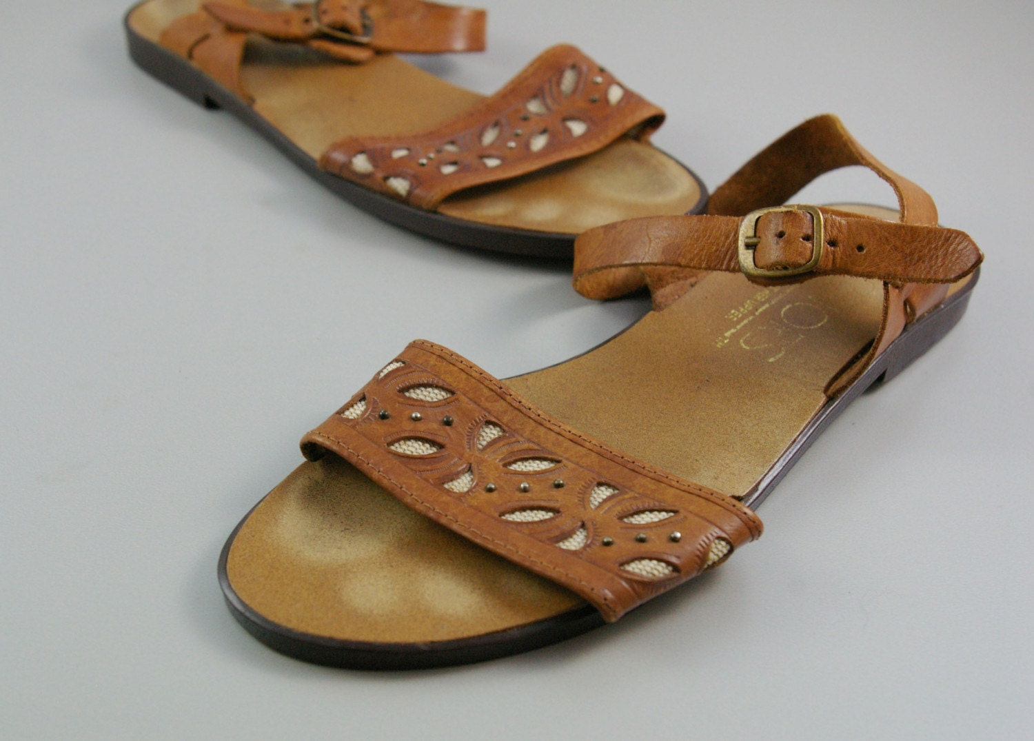 Sz 8 Vintage MEXICAN Summer Sandals by MariesVintage