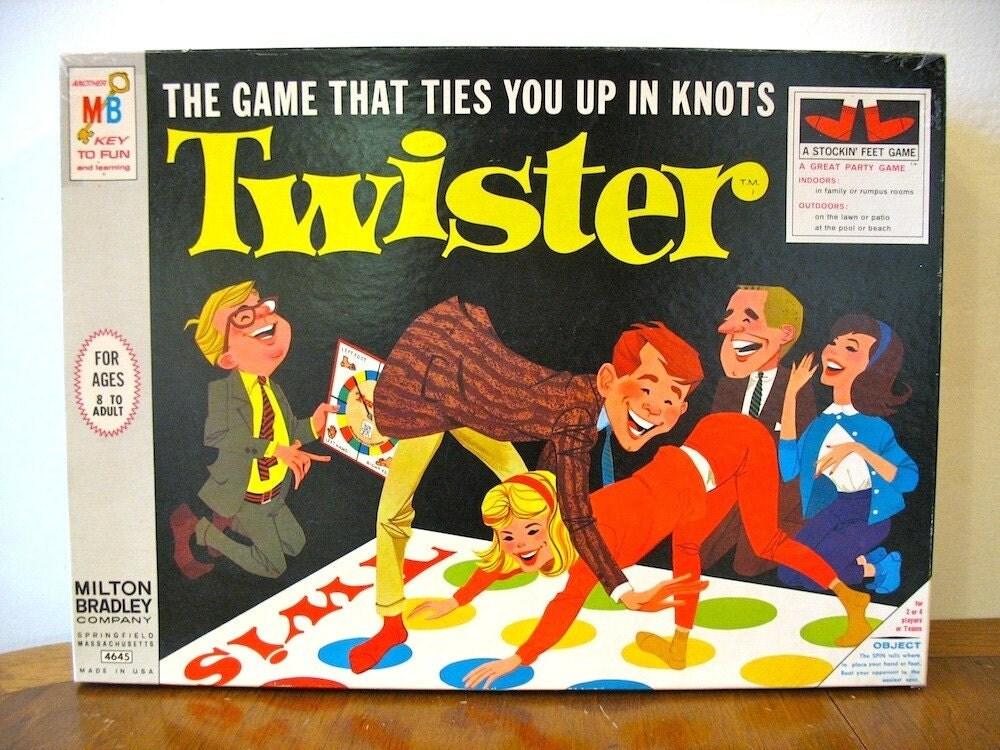 Twister, milton bradley 1966