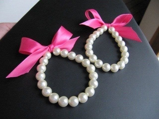Little Girl Pearl Bracelet perfect for flower girl or first pearls