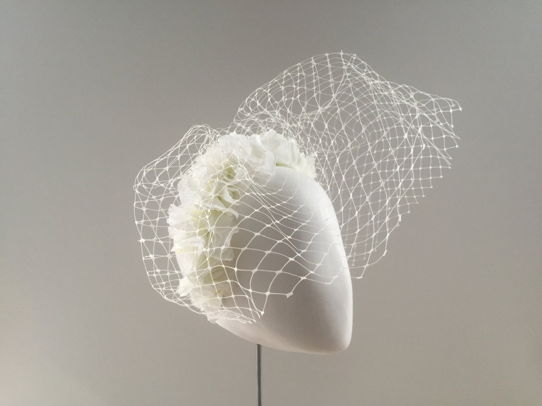 Veiling Headband Flower Headband Alternative Bridal Veil Floral Headband Bridal Headband Bridal Headpiece