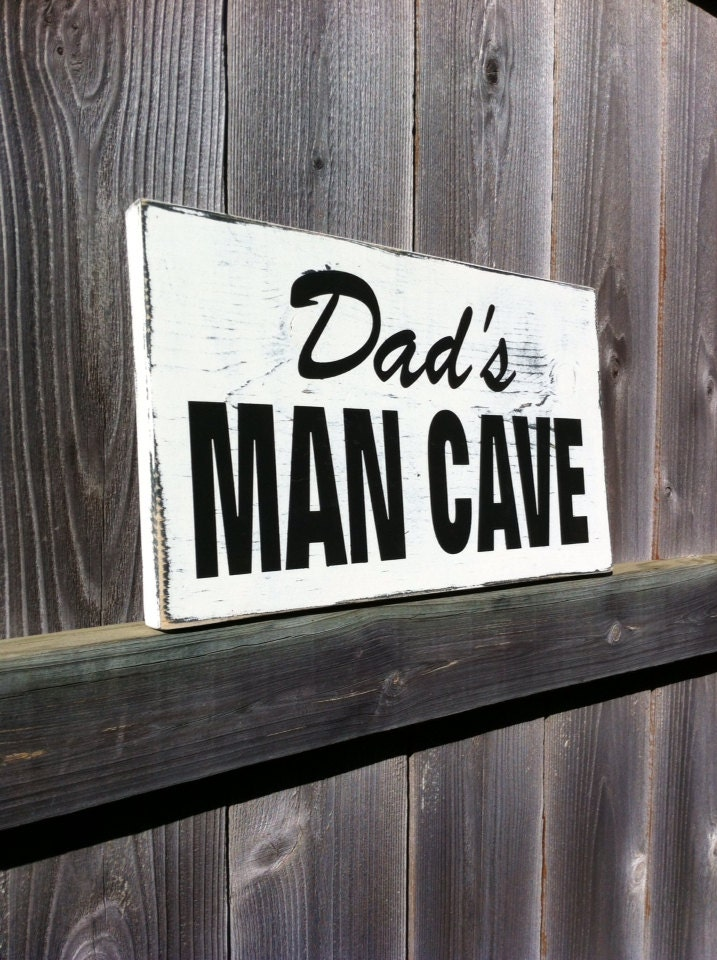 Man Cave Gifts For Dad : Dad s man cave sign gifts for men rustic wood by