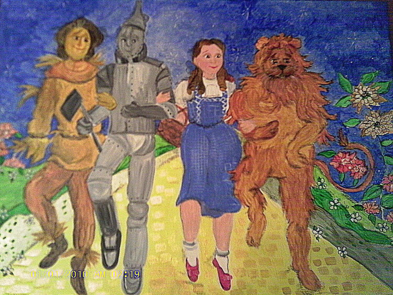 Girls Wall Art 20x16 Wizard of Oz Original Painting