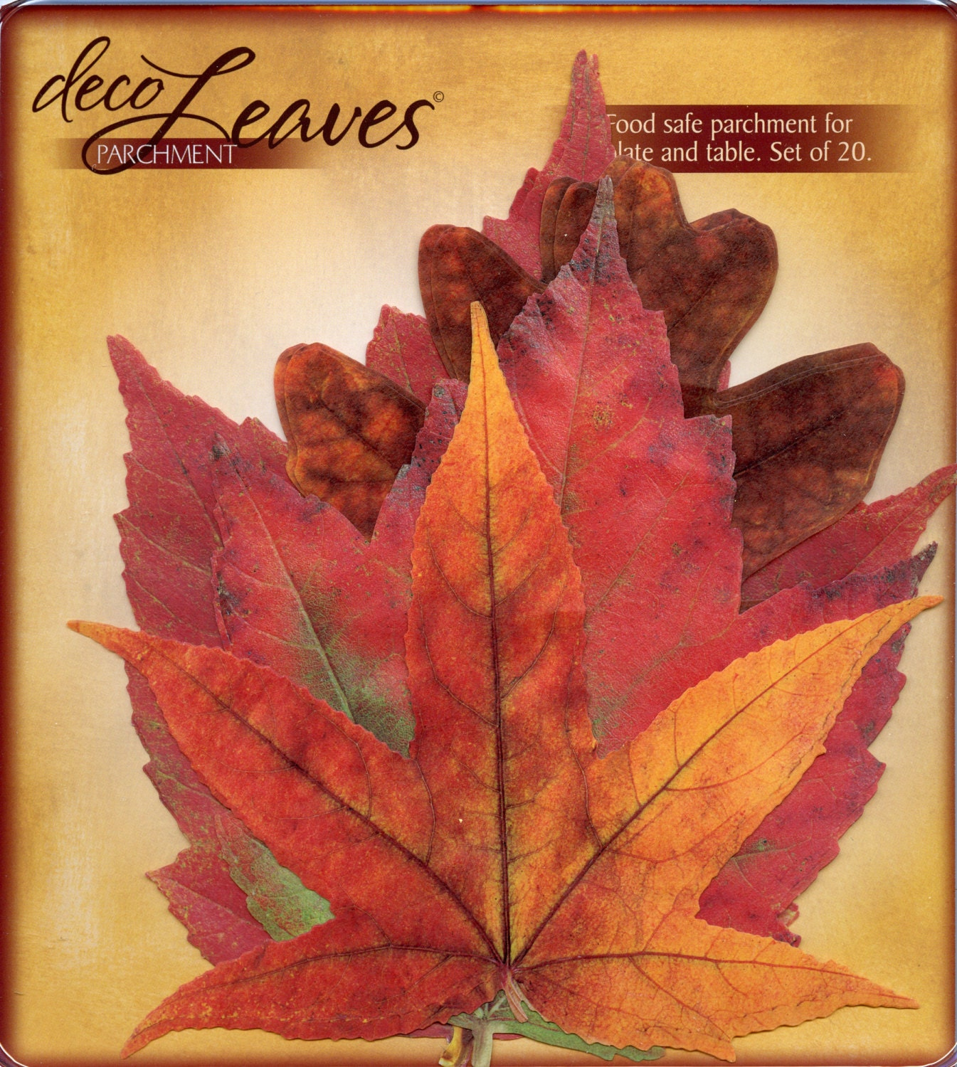 DECO LEAVES - Fall Leaves - Food Safe Parchment Leaves - OneDayLongAgo